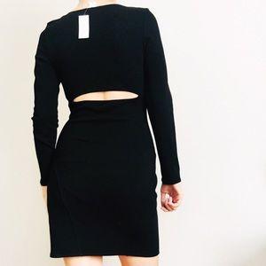 Helmut Lang Knit Black Dress w/ Back Cutout